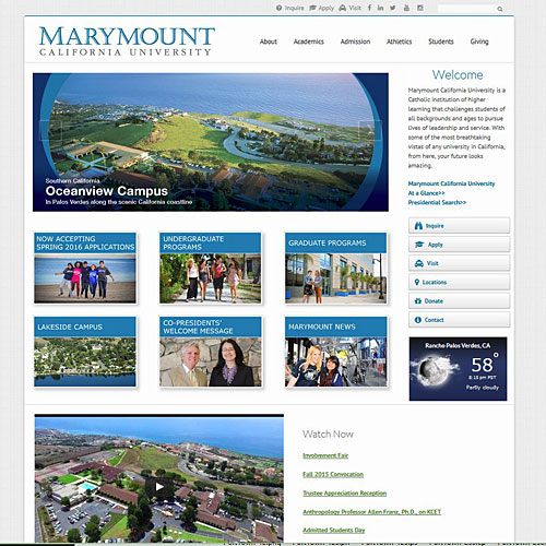 Marymount California University Drupal site