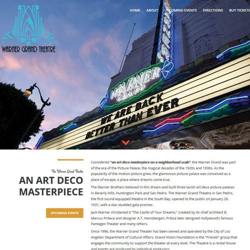 Warner Grand Theatre | Wordpress site